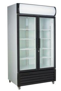 Displaykøleskab - Hvid/Sorte døre - 760 liter