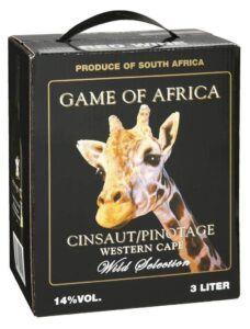 Game of Africa Cinsault Pinotage 14% 3L BIB