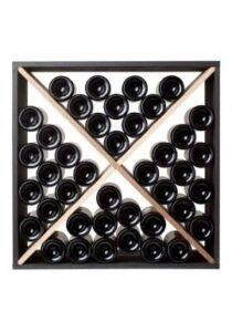 Square - bona - 40 flasker - egetræ og sort