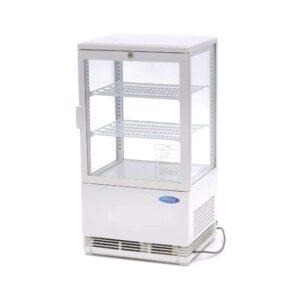 Udstillingsmontre - 58 liter - hvid