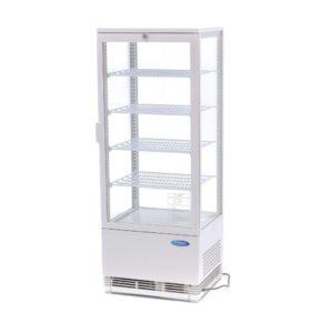 Udstillingsmontre - 98 liter - hvid