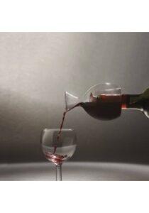 Vinilter designet som vinglas