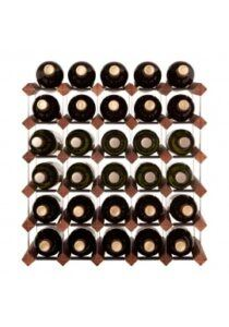 Mensolas - mørkbejdset fyrretræ - 30 flasker