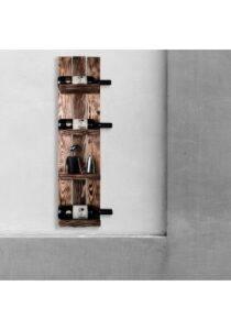 Vinobarto njord - brændte hylder i bejdset fyr
