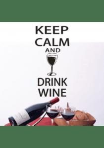 Keep calm and drink wine-wallsticker