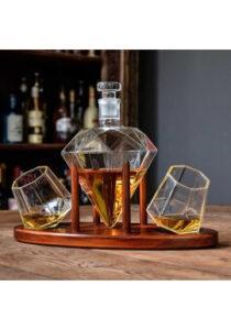 Deluxe diamant-karaffel med glas