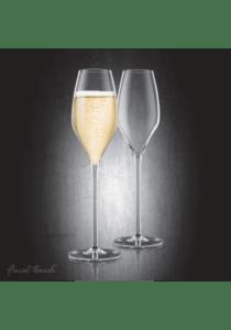 Final touch durashield champagne glas 2 stk.