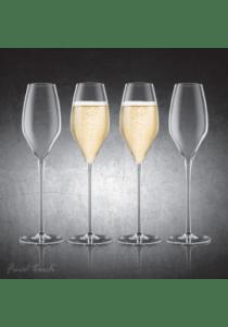 Final touch durashield champagne glas 4 stk.