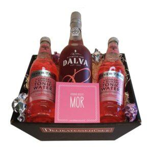 Gavekurv - Portvin Rosé med Tonicvand og chokolade
