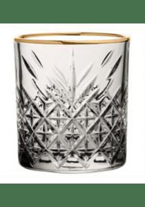 Timeless vintage whiskyglas med guldkant 355ml