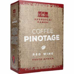 Brandvlei Manor Coffee Pinotage Red Wine 14% 3 ltr.