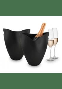 Pulltex - isspand/champagnekøler - sort akryl