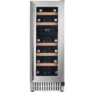 Cavin Scandinavian Collection 30 indbygget vinkøleskab, stål