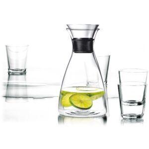 Eva Solo Karaffel drypfri 1,0 l. med 4 glas