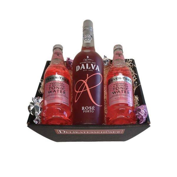 Gavekurv - Portvin Rosé med Tonicvand