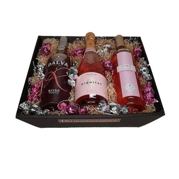 Gavekurv - den ultimative roségave; Rosévin, Cava Rosé & Portvin Rosé