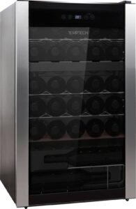 Temptech Performance vinkøleskab PWF9500SBS (sort)