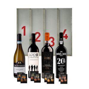 Adventskalender med hvidvin, rødvin & portvin - deluxe