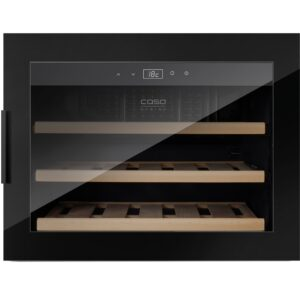 Caso WineSafe 18 vinkøleskab sort, indbygnings