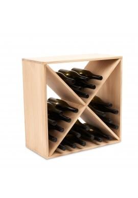 Piazza vinreol - 40 flasker - fyrretræ