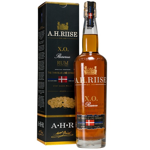 A.H. Riise X.O. The Thin Blue Line Rom 70 cl 40%
