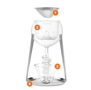 Glas Aerator til Decanters Final Touch
