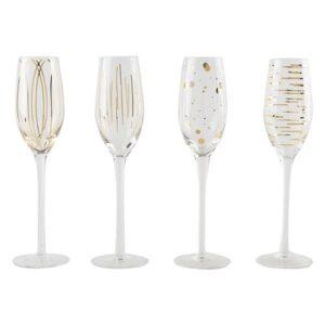 Mikasa Guld Champagne flute glas 210 ml 4 stk.